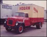 framed Red hogan truck